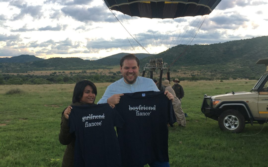 Helping make a dream come true – Hot air balloon proposal