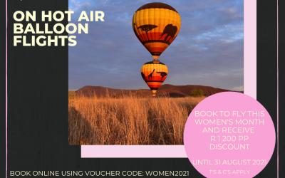 Women's Month Hot Air Balloon Special